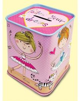 Ballerina Tin Money Box